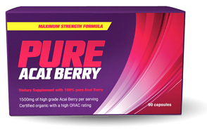 acai berry in purster form